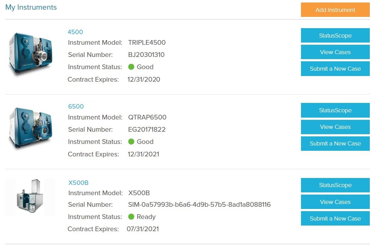StatusScope Asset Page