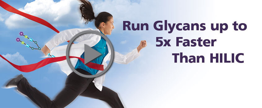 Run Glycans Up To 5x Faster Than HILIC